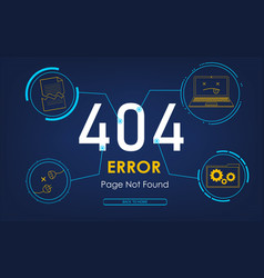 404 high-tech error page not found background vector