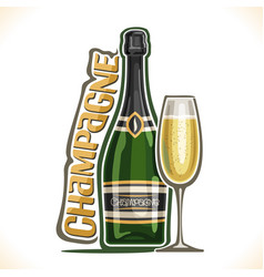 Alcohol drink champagne vector
