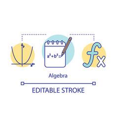 Algebra courses lessons concept icon advanced vector