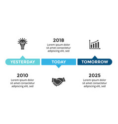 Arrows circles timeline infographic vector