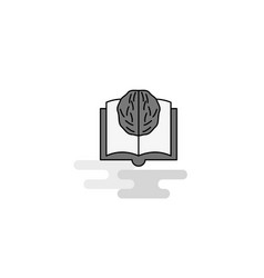 artificial intelligence web icon flat line filled vector image