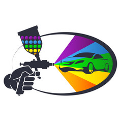 auto spray painting vector image