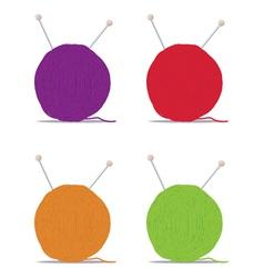 Ball of yarn vector