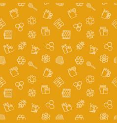 beekeeping yellow seamless pattern vector image