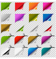 big color corners set vector image
