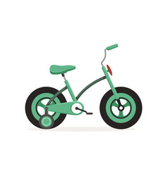 Bike with training wheels kids bicycle vector