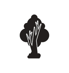 black icon on white background tree vector image