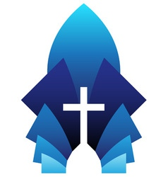 Blue cross symbol vector