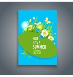 Blue summer card vector