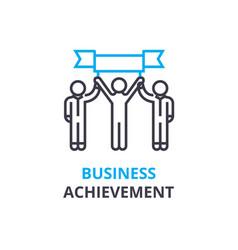 business achievement concept outline icon vector image