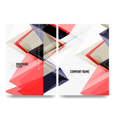 Business brochure cover layout flyer a4 template vector