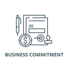 Business commitment line icon business vector