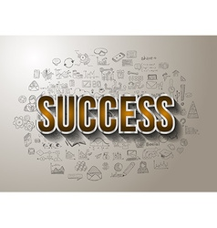 Business Success with Doodle design style vector image vector image