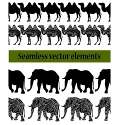 camels and elephants pattern vector image