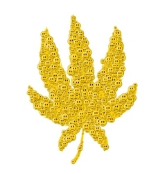 Cannabis consisting of happy face white background vector image