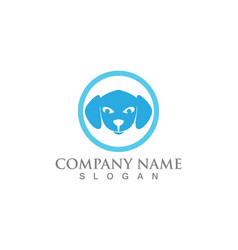 cat and dog silhouettes logo template vector image