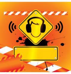 Caution music vector