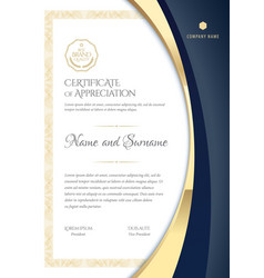 Certificate template diploma modern design or vector