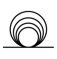 Circle coil icon outline style vector