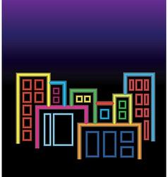 City of neon lights vector