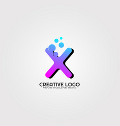 creative logo template logo technology vector image