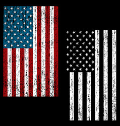 Distressed flag vector