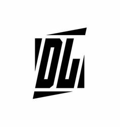 Dl logo monogram with modern style concept design vector