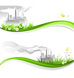 Environmental banners vector