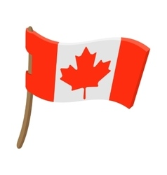 flag canada icon cartoon style vector image