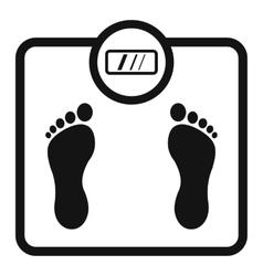 Floor scales icon simple style vector