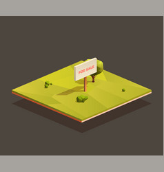 For sale empty ground plot vector