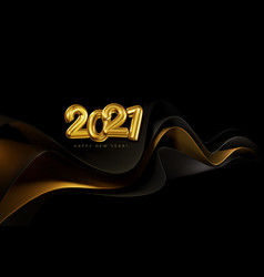 holiday banner with volumetric golden numbers vector image
