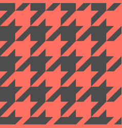 houndstooth seamless pattern repeat vector image