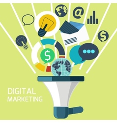 icons for digital marketing vector image