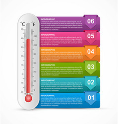 Infographics thermometer design template vector