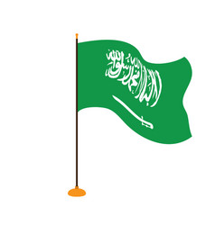Isolated flag of saudi arabia vector