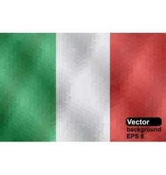 Italian flag made of geometric shapes vector