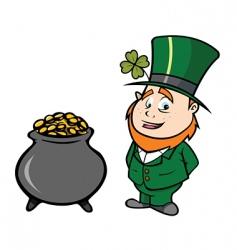 leprechaun pot of gold vector image