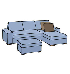 Light blue couch vector