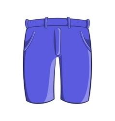 Mens classic shorts icon cartoon style vector image