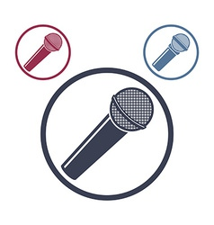Microphone icon isolated 3 versions set vector