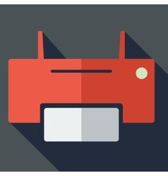 Modern flat design concept icon printer vector image