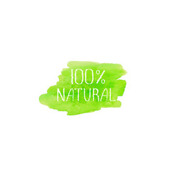 Natural products concept logo design template vector