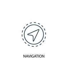 navigation concept line icon simple element vector image