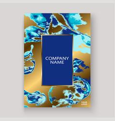 Navy blue marble luxurious texture paint artistic vector