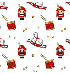 nutcracker tale with rocking horse soldier dum vector image