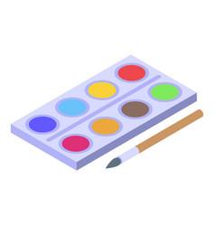 Painting habit icon isometric style vector