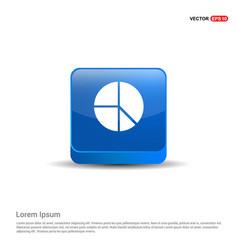 pie chart - 3d blue button vector image