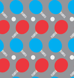 Ping pong seamless pattern vector image