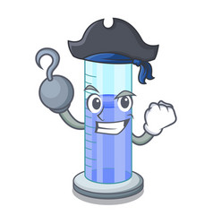 Pirate graduated cylinder with on mascot liquid vector